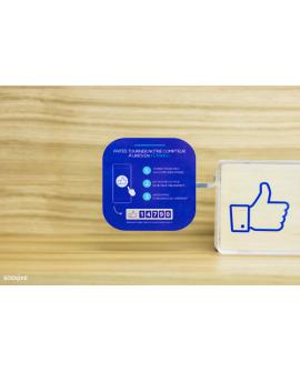 Stop Rayon à coller sur le côté du Compteur Facebook