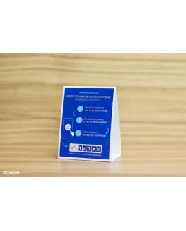 50 Chevalets de Table pour communiquer sur le Compteur à Likes Facebook (Smiirl)