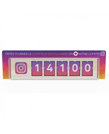 Stop Rayon pour communiquer sur le Compteur de followers Instagram Smiirl