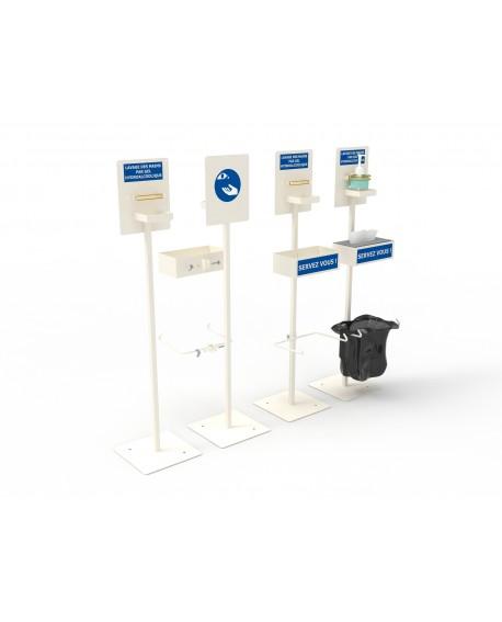 Support autoportant pour gel hydroalcoolique sans boîte à gants