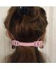 Barrettes - Crochet attache masque confort de protection - Noir