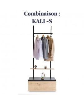 Combinaison KALI-S : Mobilier KALI - Bibliothèque pour particuliers et professionnels en bois et métal