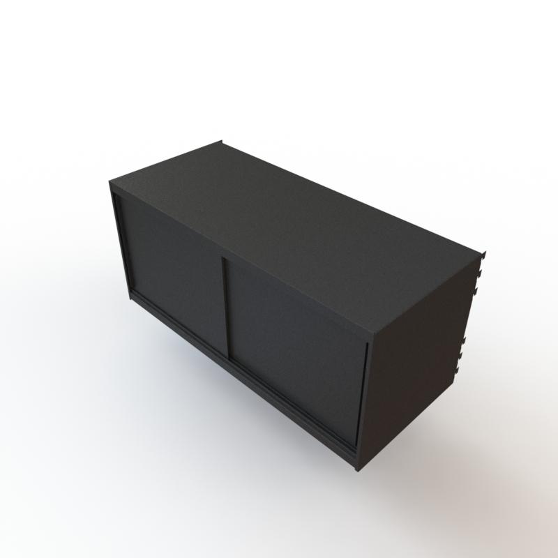 caisson métal noir mok
