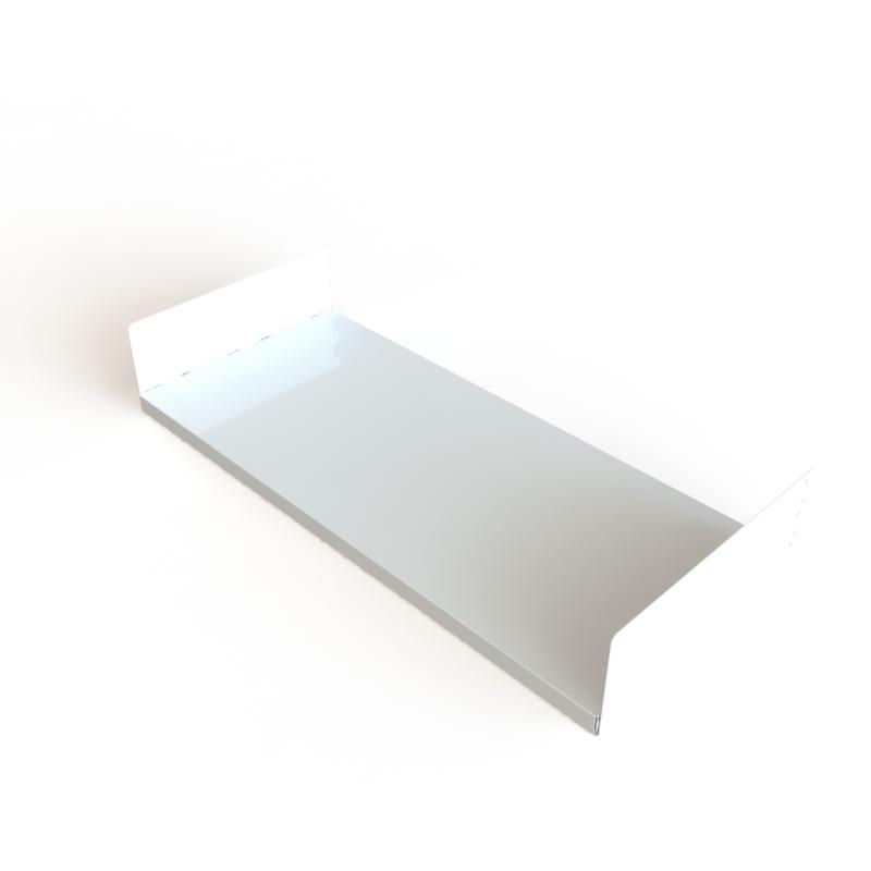 tablette acier blanc mok